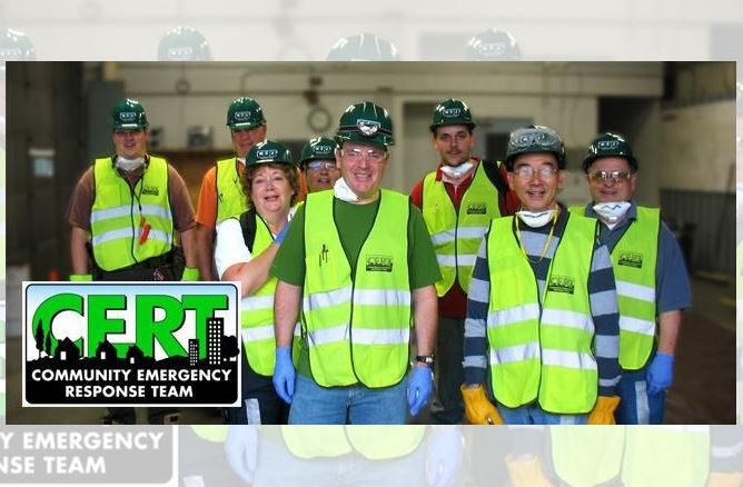CERT volunteer group photo
