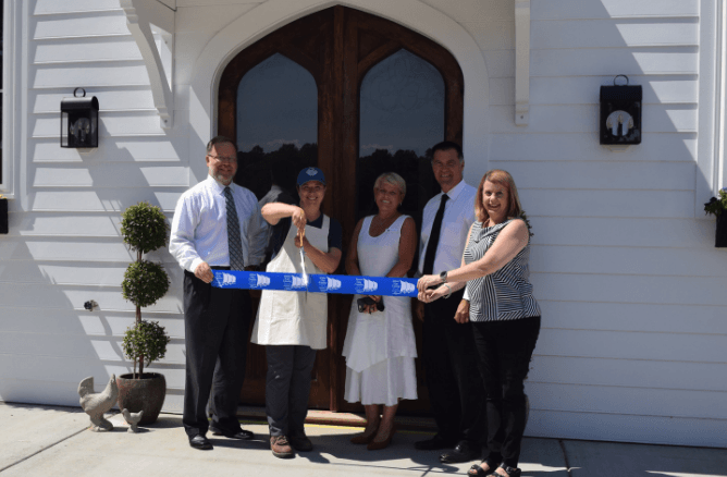 Sweethaven Lavender Farm ribbon cutting