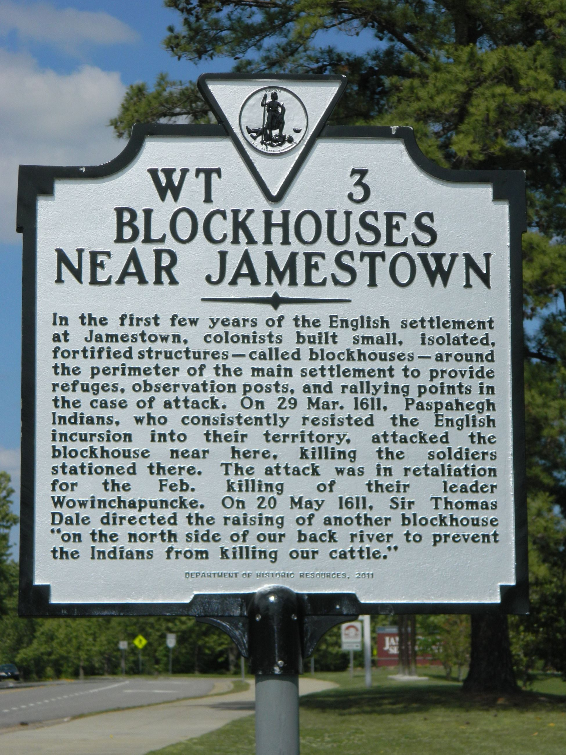 Blockhouses Near Jamestown Landmark